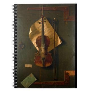 Still Life with Violin Notebooks