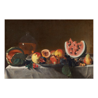 Still life with watermelons and carafe