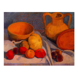 Still life with yellow cup by Modersohn Postcard