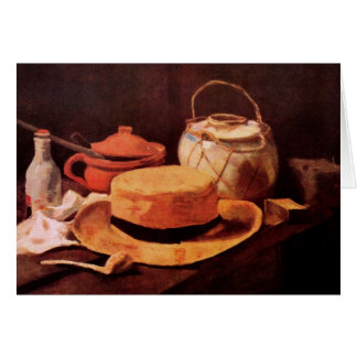 Still Life with Yellow Straw Hat by van Gogh Card
