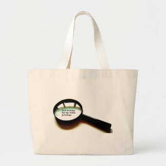 Still Looking For My White Privilege Jumbo Tote Bag