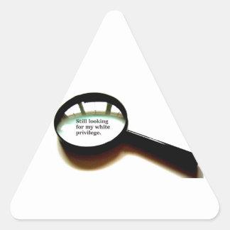 Still Looking For My White Privilege Triangle Sticker