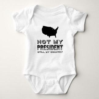 Still My Country Not My President America Black Baby Bodysuit