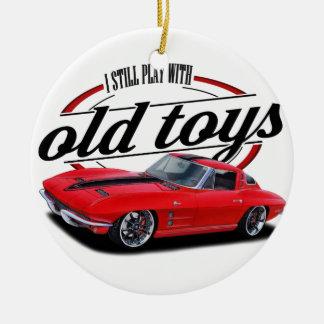 Still plays with corvettes ceramic ornament
