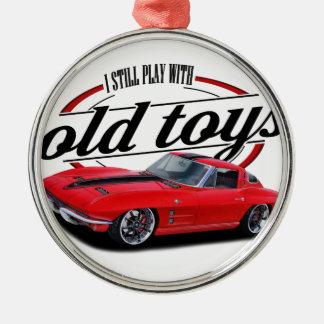 Still plays with corvettes metal ornament