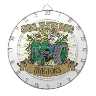 Still Plays With Green Tractors Dartboard