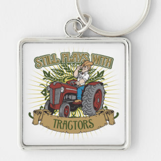 Still Plays With Red Tractors Key Ring