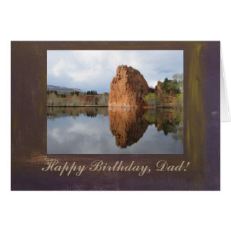 Still Pond Happy Birthday Dad Photo Template Greeting Card