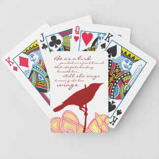 Still She Sings Bicycle Playing Cards