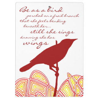 Still She Sings (Quote on Back) Clipboard