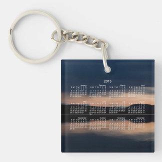 Still Sunset 2013 Calendar Square Acrylic Keychains