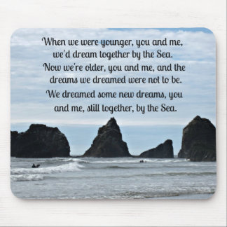 Still together by the Sea (for couples) Mouse Pad