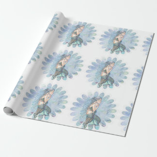 Still Waters Mermaid Mother and Infant Baby Shower Wrapping Paper