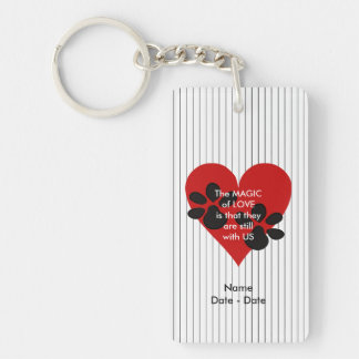 Still With Us Pet Memorial Keychain