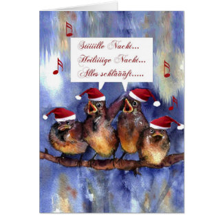 stille Nacht Weihnachten german language christmas Card