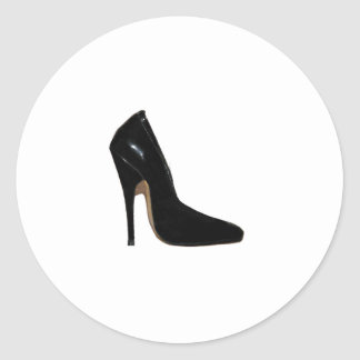 Stilletto Heel Right Side Black The MUSEUM Zazzle Classic Round Sticker