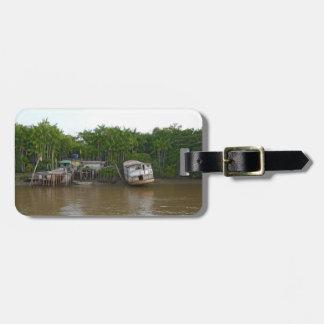 Stilt houses on Amazon river Luggage Tag