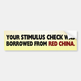 Stimulus Check Bumper Sticker