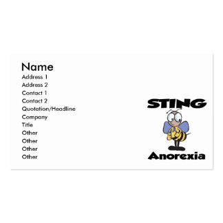 STING Anorexia Pack Of Standard Business Cards