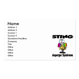 STING Asperger Syndrome Pack Of Standard Business Cards
