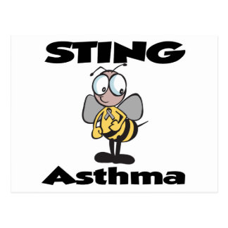 STING Asthma Postcard