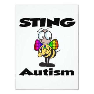 STING Autism 17 Cm X 22 Cm Invitation Card