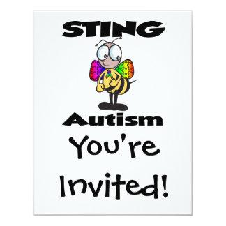 STING Autism 11 Cm X 14 Cm Invitation Card