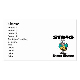 STING Batten Disease Pack Of Standard Business Cards