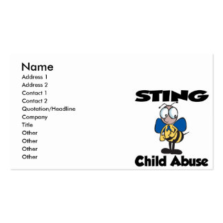 STING Child Abuse Pack Of Standard Business Cards