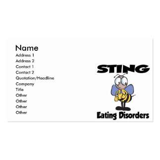 STING Eating Disorders Pack Of Standard Business Cards