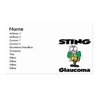 STING Glaucoma Pack Of Standard Business Cards