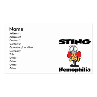 STING Haemophilia Pack Of Standard Business Cards