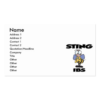 STING IBS PACK OF STANDARD BUSINESS CARDS