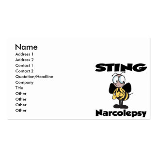 STING Narcolepsy Pack Of Standard Business Cards