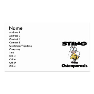 STING Osteoporosis Pack Of Standard Business Cards
