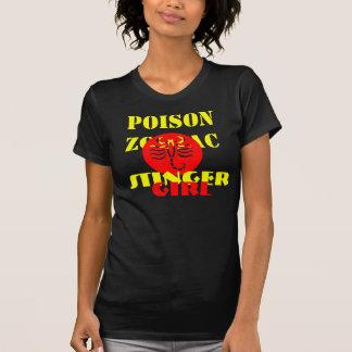 Stinger Girl Zodiac Message Fine Jersey Tshirt