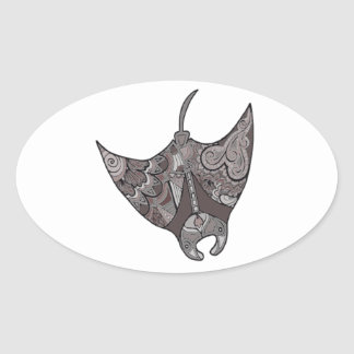 Stingray Oval Sticker