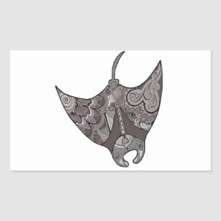 Stingray Rectangular Sticker