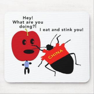 Stink Bug Apple Mouse Pad