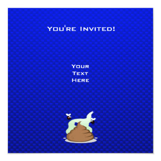 Stinky Poo; Blue 13 Cm X 13 Cm Square Invitation Card