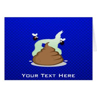 Stinky Poo; Blue Greeting Card