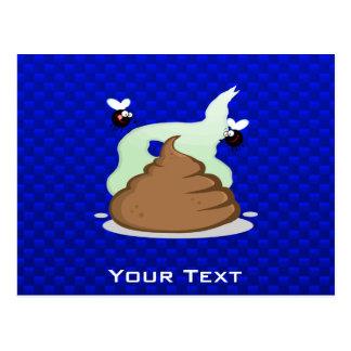 Stinky Poo; Blue Postcard