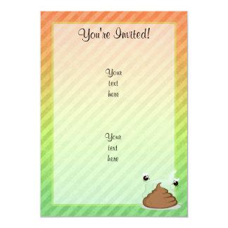 Stinky Poo design 13 Cm X 18 Cm Invitation Card