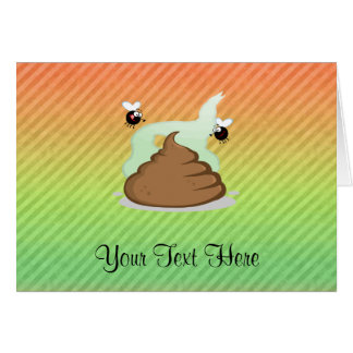 Stinky Poo design Greeting Card