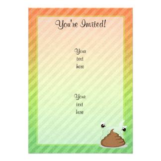 Stinky Poo design Custom Invitation