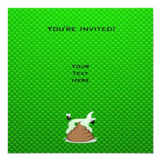 Stinky Poo; Green 13 Cm X 13 Cm Square Invitation Card