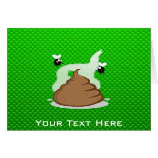 Stinky Poo; Green Greeting Card