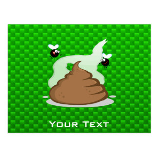 Stinky Poo; Green Postcard