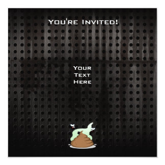Stinky Poo; Grunge 13 Cm X 13 Cm Square Invitation Card