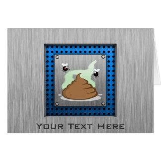 Stinky Poo; Metal-look Greeting Card